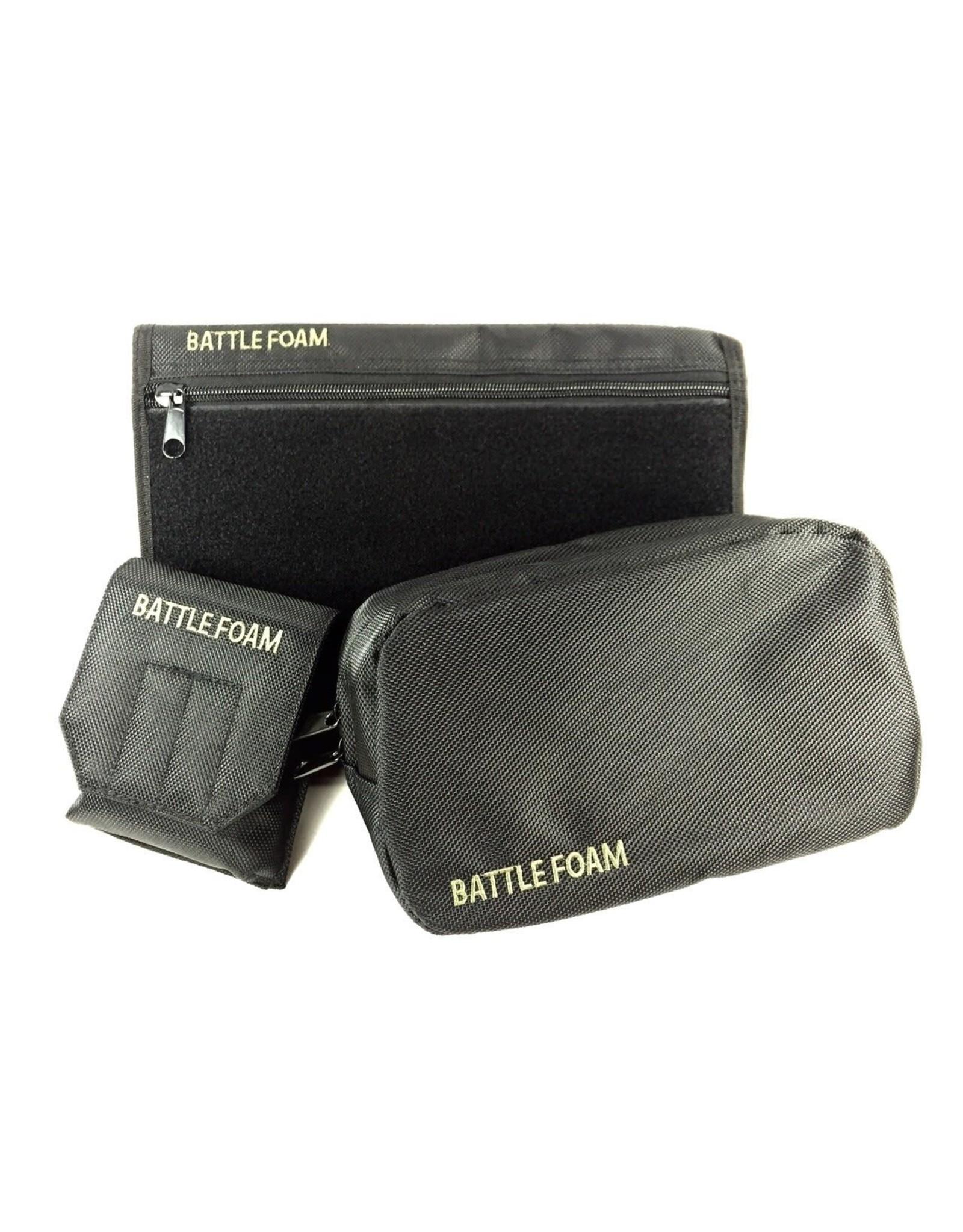 Battle Foam Grenade Ditty Media P.A.C.K. Molle Accessory Bundle (Black)