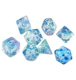 Sirius Dice RPG Dice Set (7): Emerald Waters