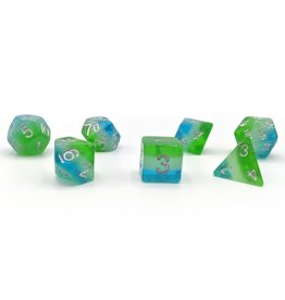 Sirius Dice RPG Dice Set (7): Blue Hawaiian