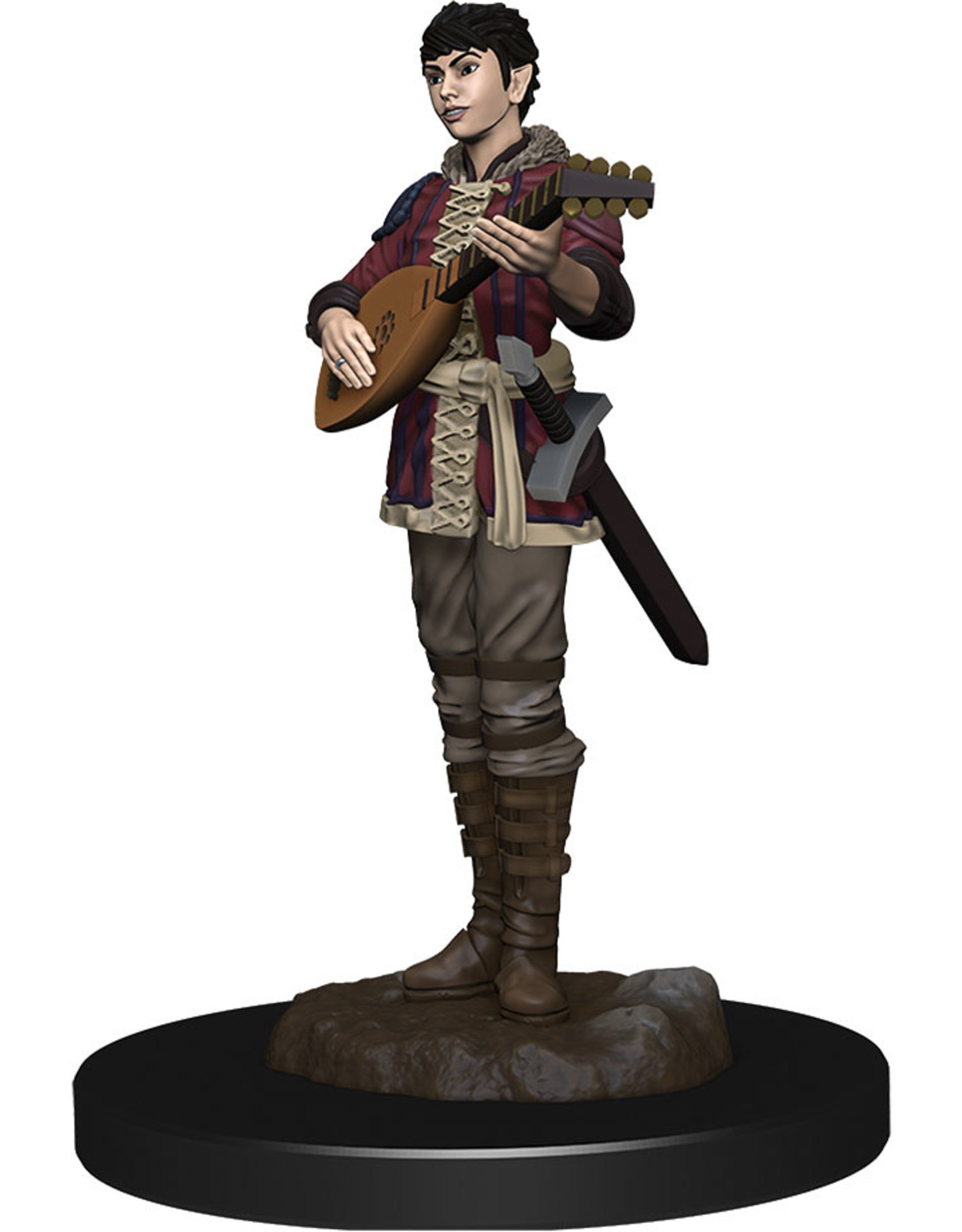 WizKids Dungeons & Dragons Fantasy Miniatures: Icons of the Realms Premium Figures W4 Half-Elf Bard Female