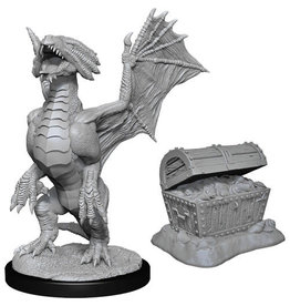 WizKids Dungeons & Dragons Nolzur`s Marvelous Unpainted Miniatures: W13 Bronze Dragon Wyrmling & Pile of Sea found Treasure