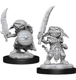 WizKids Pathfinder Deep Cuts Unpainted Miniatures: W13 Goblin Fighter Male