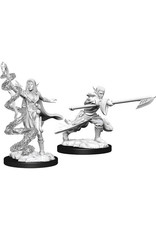 WizKids Magic the Gathering Unpainted Miniatures: W13 Joraga Warcaller & Joraga Treespeaker (Elves)