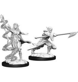 WizKids Magic the Gathering Unpainted Miniatures: W13 Joraga Warcaller & Joraga Treespeaker (Elves)