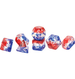 Sirius Dice RPG Dice Set (7): Star Spangled Banner