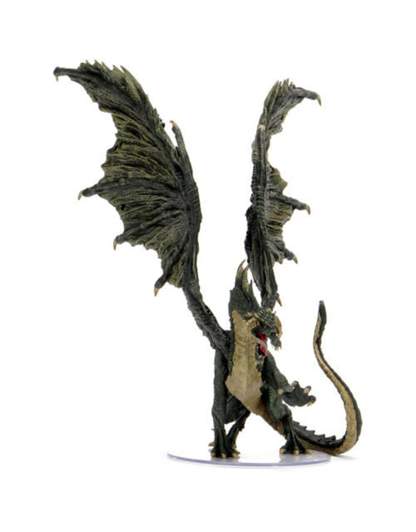 WizKids Dungeons & Dragons Fantasy Miniatures: Adult Black Dragon Premium Figure