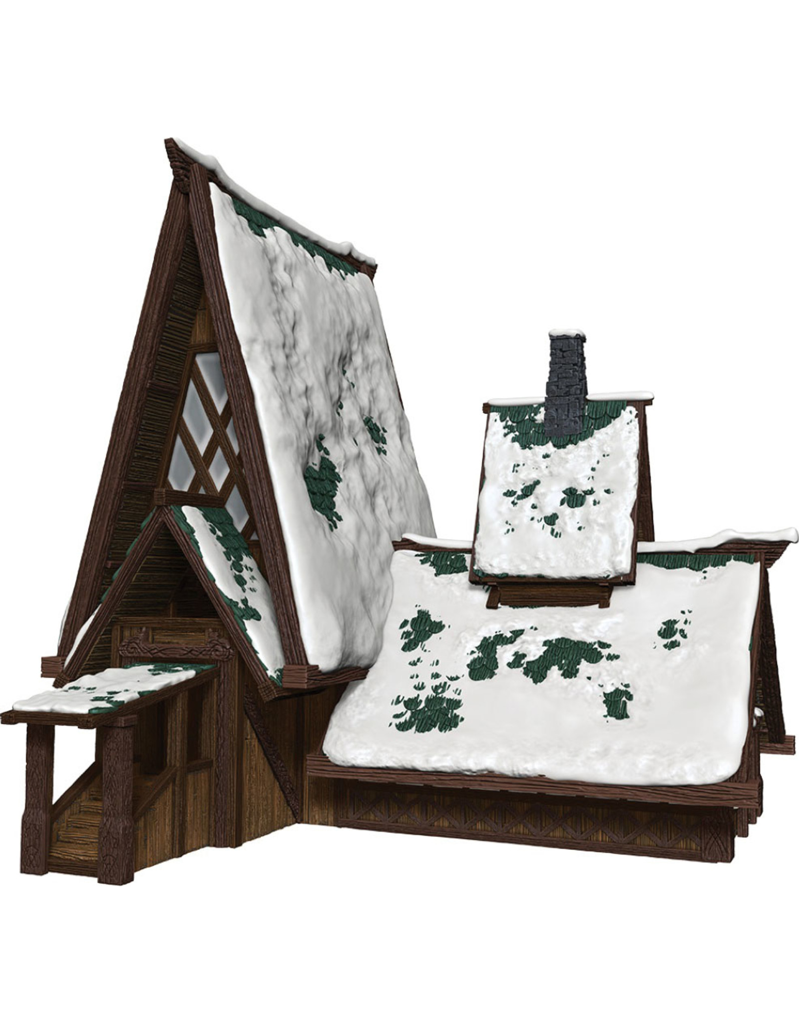 WizKids Dungeons & Dragons Fantasy Miniatures: Icons of the Realms Icewind Dale: Rime of the Frostmaiden - The Lodge Papercraft Set