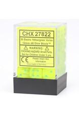 Chessex d6 Cube 12mm Vortex Electric YEgr (36)