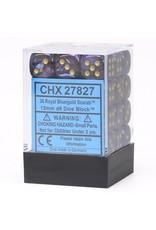 Chessex d6 Cube12mmSCB RYLBUgd (36)