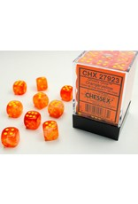Chessex d6 Cube12mm Ghostly Glow ORye (36)