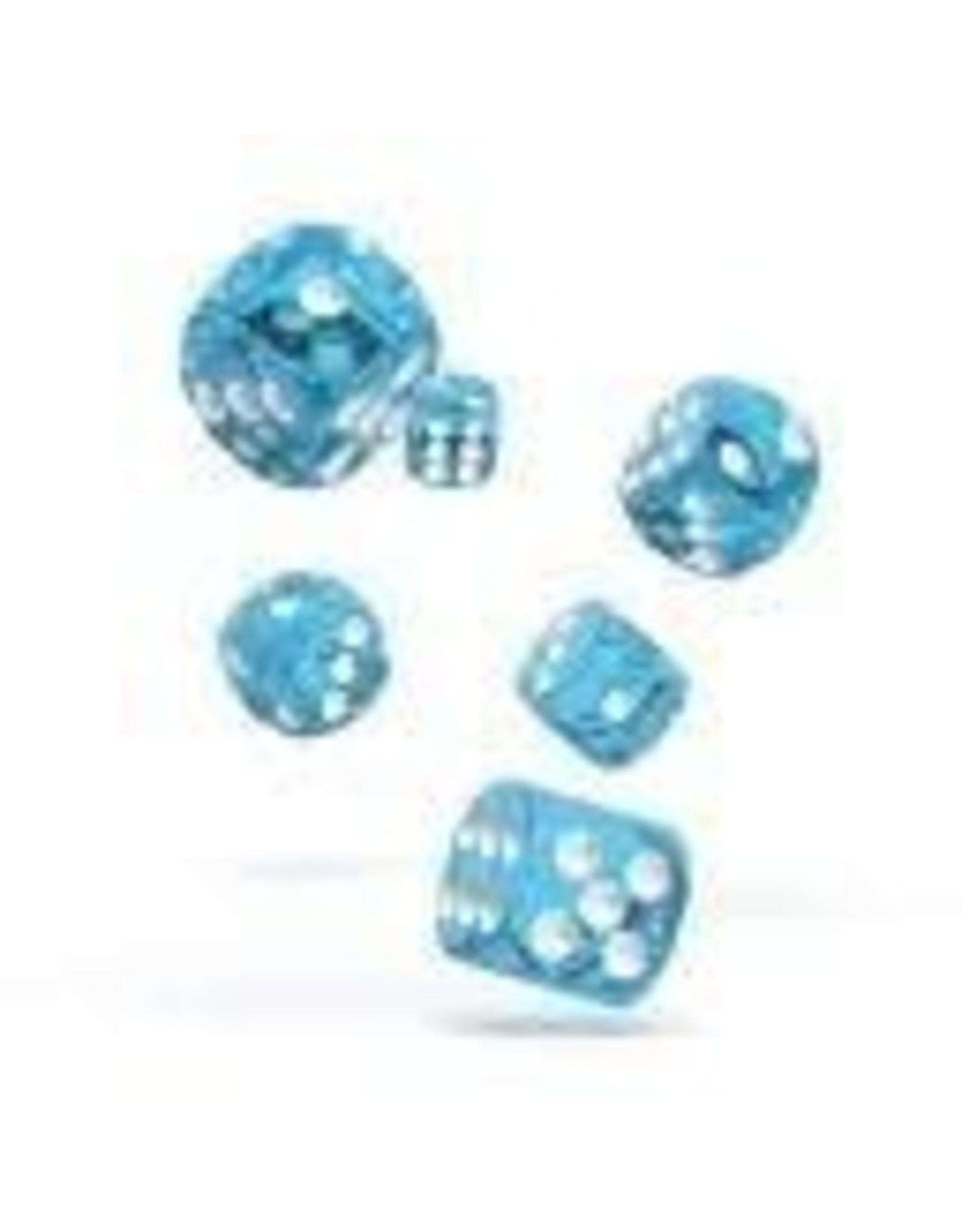 Oakie Doakie Dice C8 OK d6 12mm Speckled Light Blue