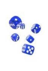 Oakie Doakie Dice C13 OK d6 Translucent Blue