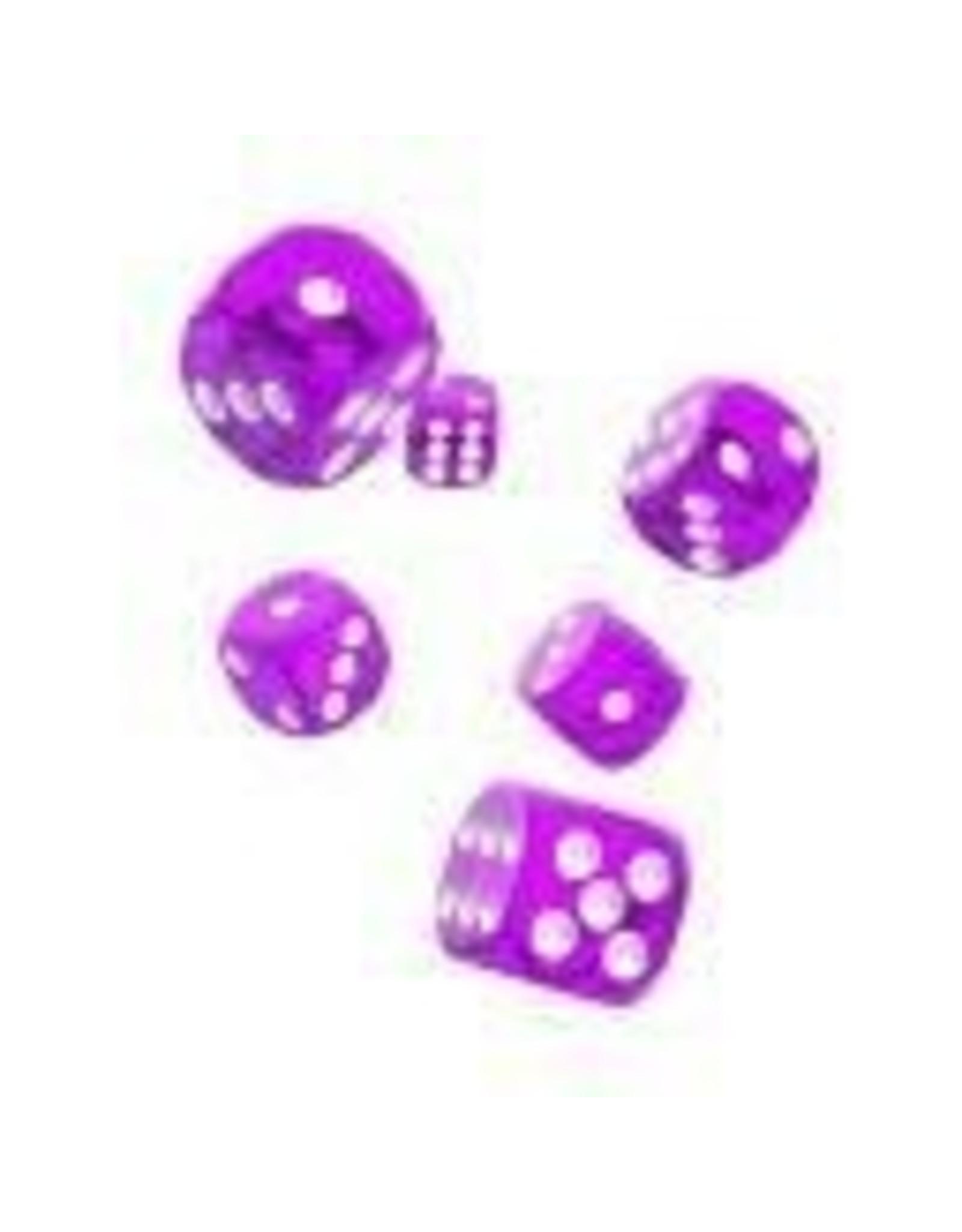 Oakie Doakie Dice G12 OK d6 12mm Translucent Purple