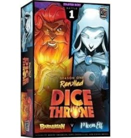 Roxley Game Labs Dice Throne: S1R Barbarian v Moon Elf