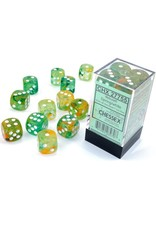 Chessex d6Cube 16mm Luminary NB Spring wh (12)