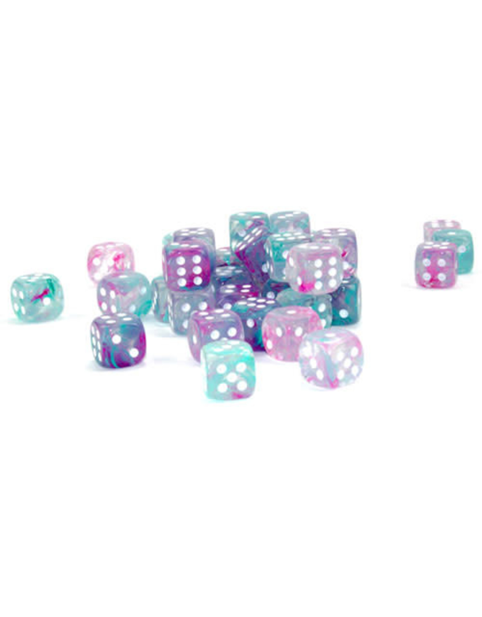 Chessex d6Cube 12mm Luminary NB Wisteria wh (36)