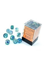 Chessex d6Cube 12mm Luminary NB Oceanic gd (36)