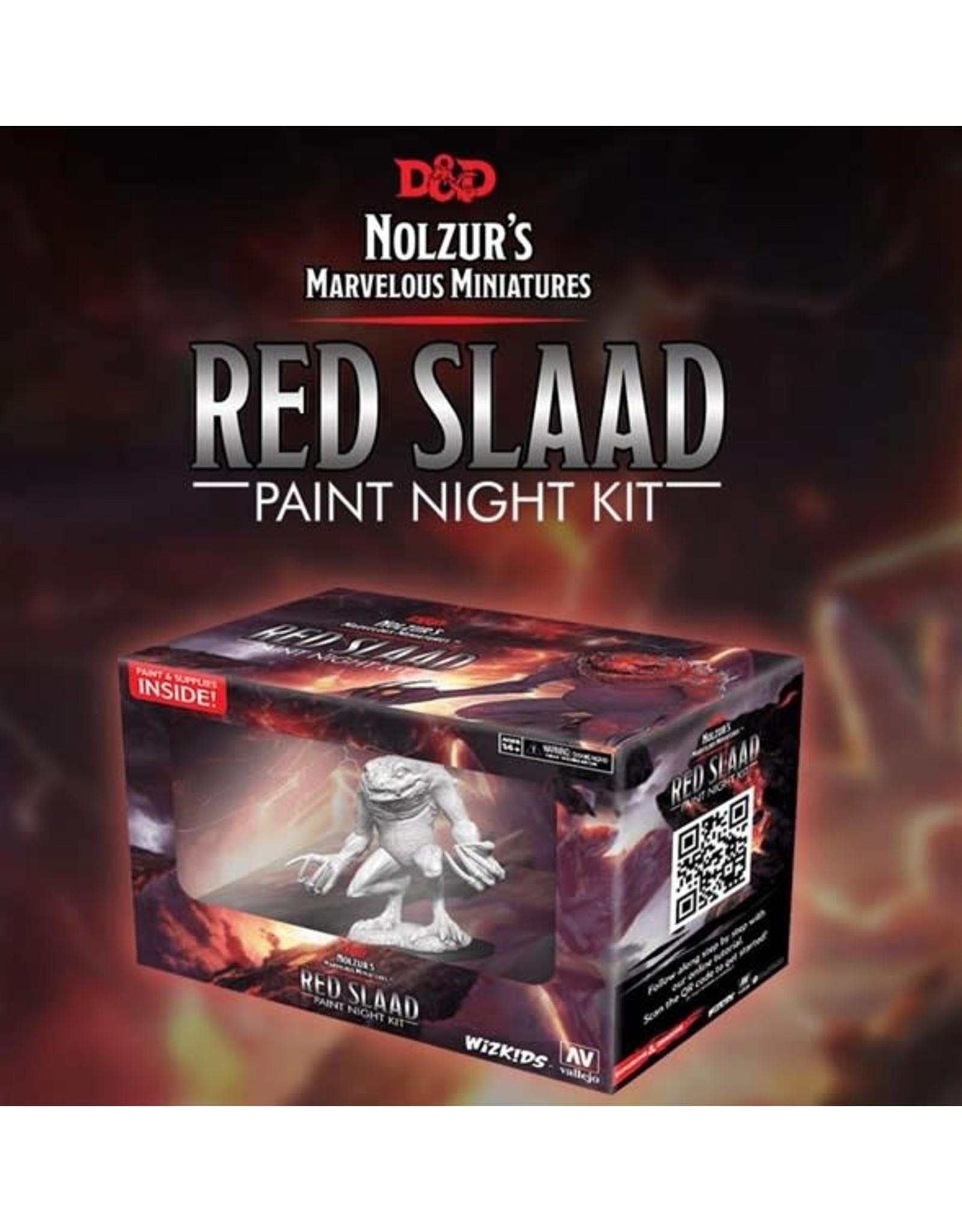 WizKids Dungeons & Dragons Nolzur`s Marvelous Miniatures: Paint Night Kit Red Slaad
