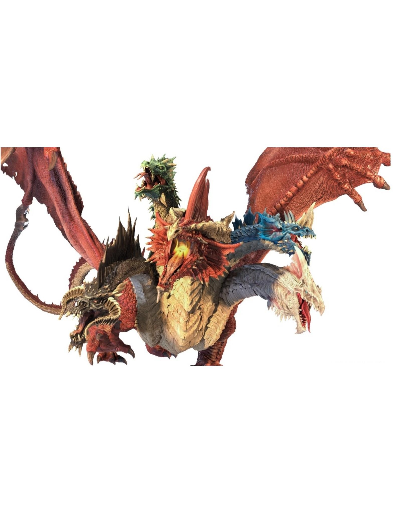 WizKids Dungeons & Dragons Fantasy Miniatures: Icons of the Realms Gargantuan Tiamat