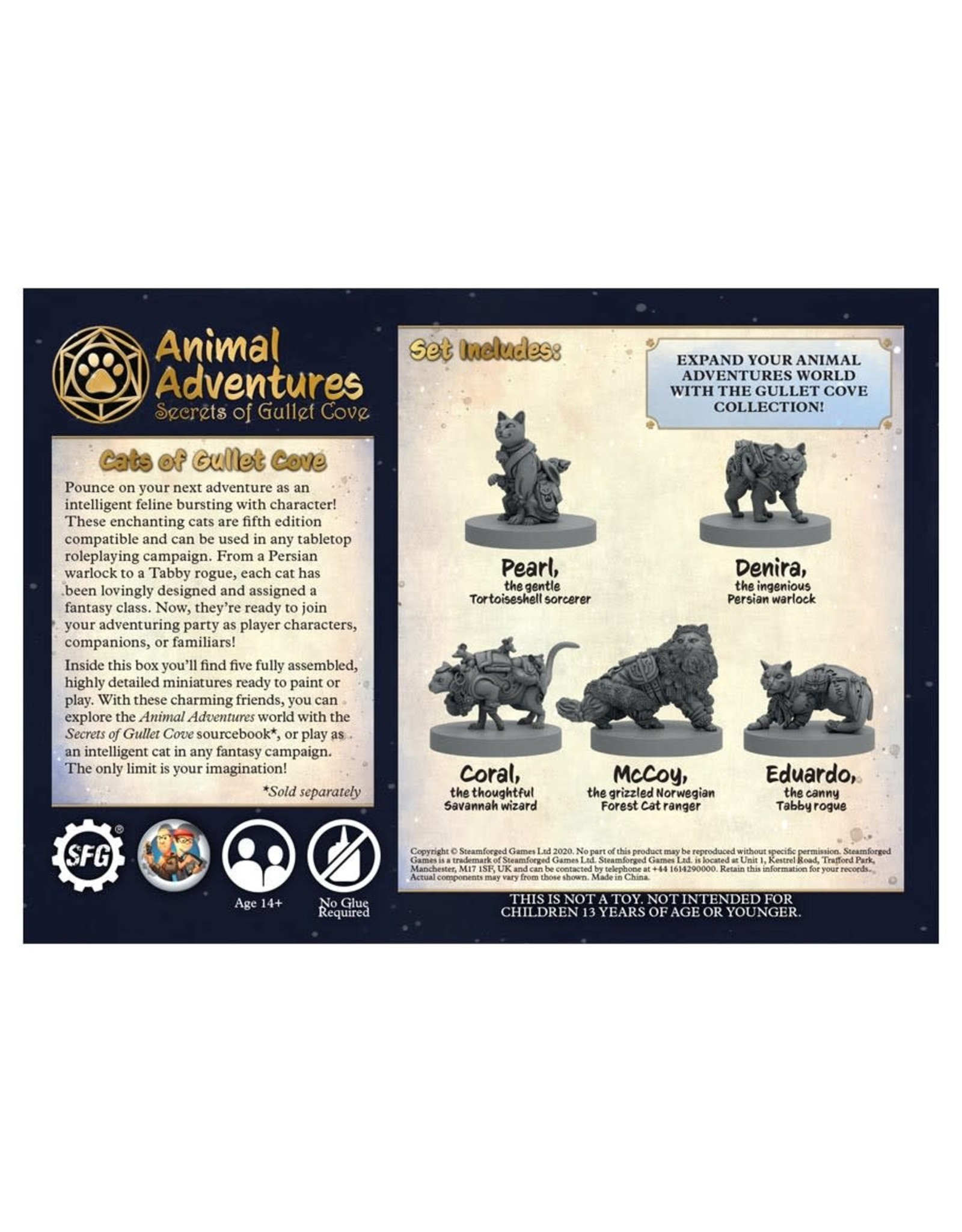 Steamforged Games Animal Adventures: SoGC: Cats