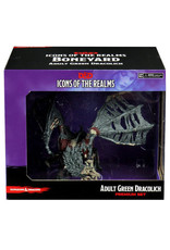 WizKids Dungeons & Dragons Icons of the Realms: Set 18 Boneyard Premium - Green Dracolich