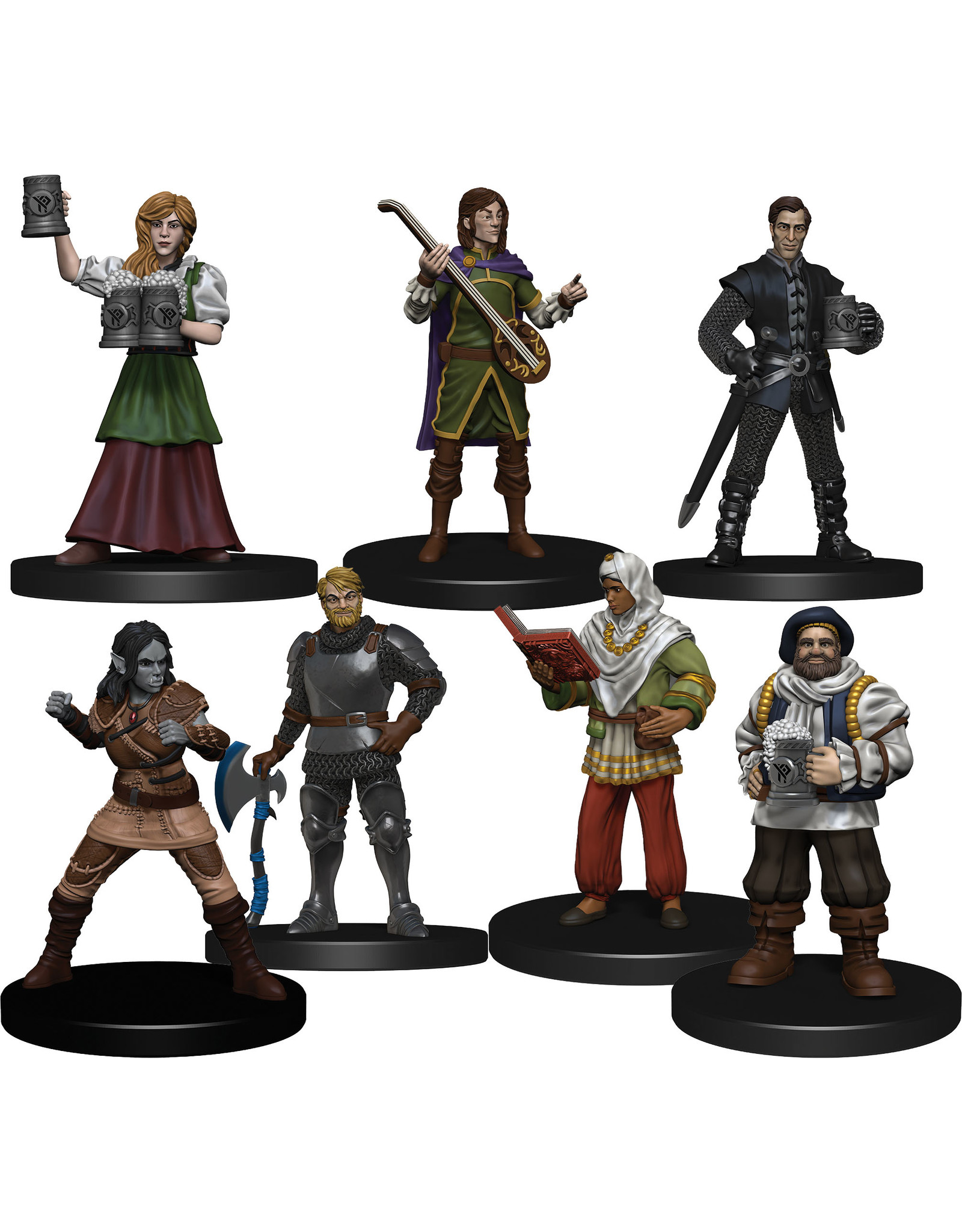 WizKids Dungeons & Dragons Fantasy Miniatures: Icons of the Realms The Yawning Portal Inn - Friendly Faces Pack