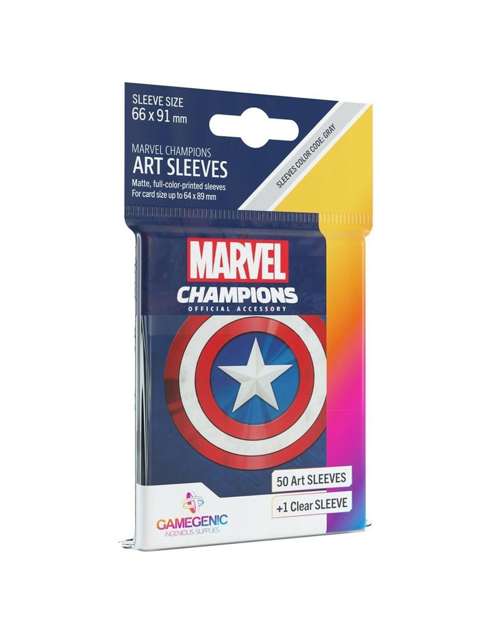 GameGenic DP: Marvel Champions Art Sleeves - Captain America