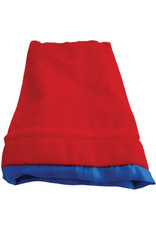 Metallic Dice Games 6in x 8in LARGE Red Velvet Dice Bag with Blue Satin Lining