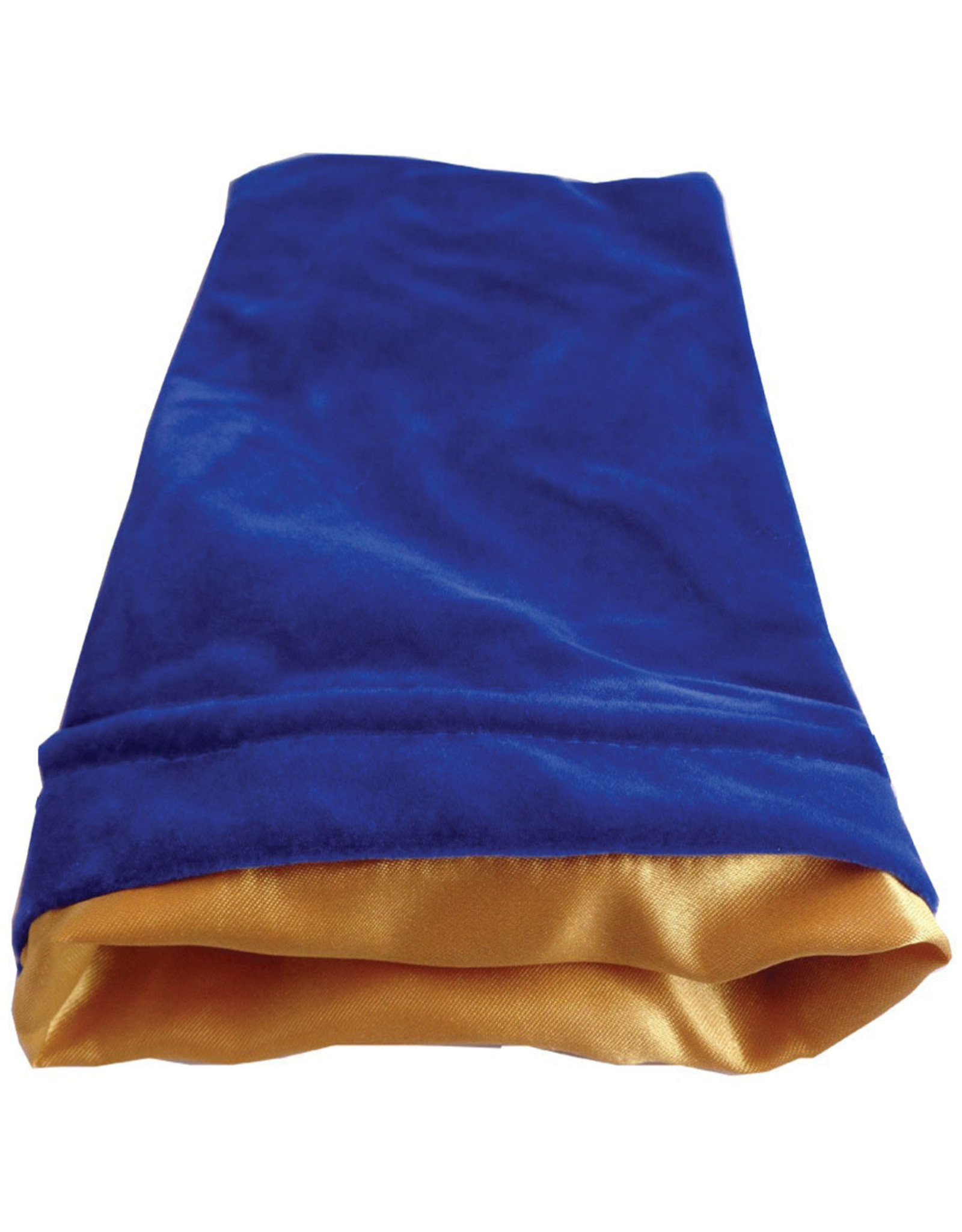 Metallic Dice Games 6in x 8in LARGE Blue Velvet Dice Bag with Gold Satin Lining