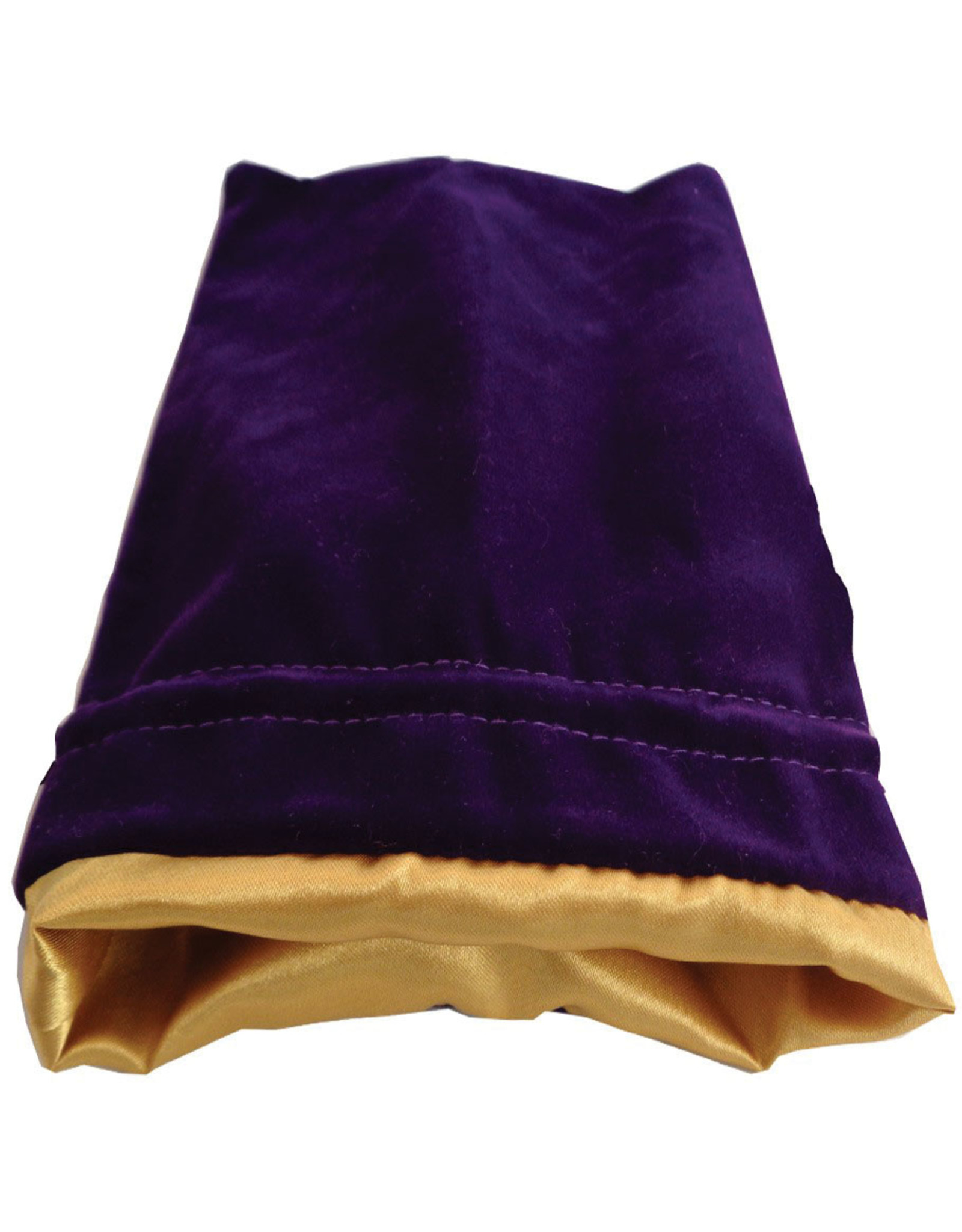 Metallic Dice Games 6in x 8in LARGE Purple Velvet Dice Bag with Gold Satin Lining