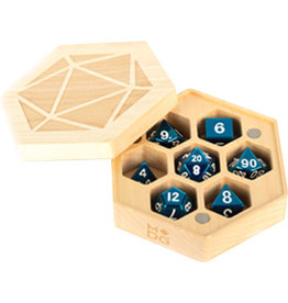 Metallic Dice Games Premium Wood Hexagon Dice Case: Maple