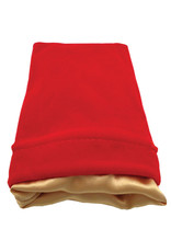 Metallic Dice Games 4in x 6in Red Velvet Dice Bag with Gold Satin Lining