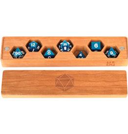 Metallic Dice Games Premium Wood Dice Vault: Cherry