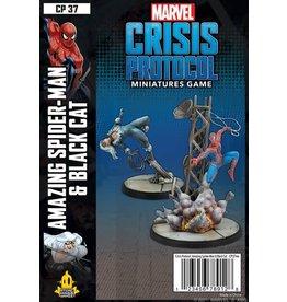 Atomic Mass Games Marvel Crisis Protocol - Amazing Spider-Man and Black Cat