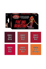 Reaper Miniatures Fast Pallet Paint Set: Fire and Brimstone - Hot Reds (6 Colors)