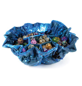 Metallic Dice Games Velvet Compartment Dice Bag with Pockets: Galaxy