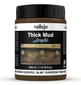 Vallejo DE: Mud: European Thick Mud (200 ml.)