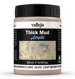 Vallejo DE: Mud: Light Brown Thick Mud (200 ml.)