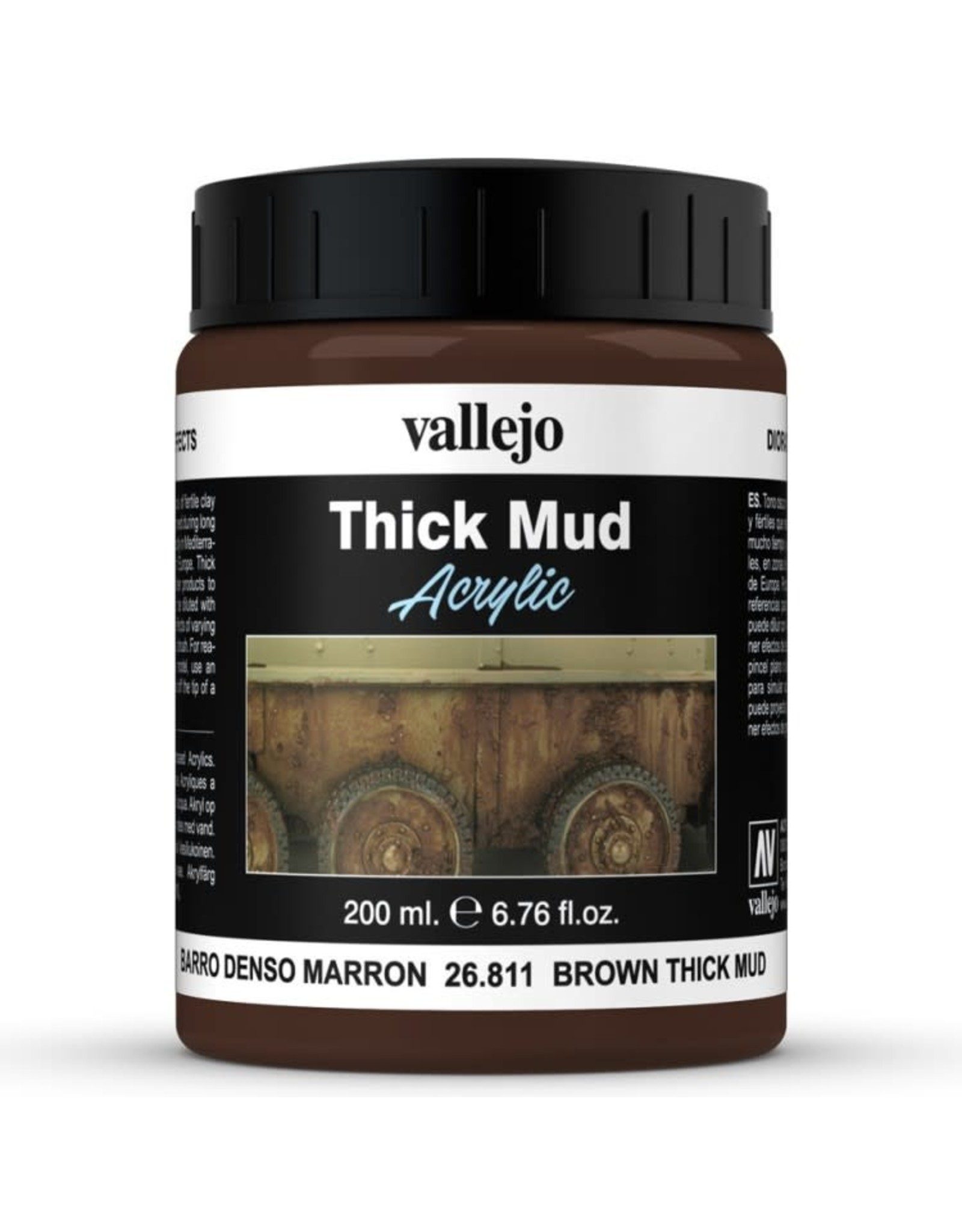 Vallejo DE: Mud: Brown Thick Mud (200 ml.)