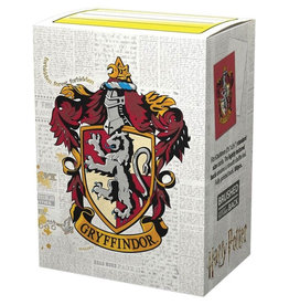 Arcane Tinmen Dragon Shields: (100) Brushed Art - Harry Potter Wizarding World - Gryffindor