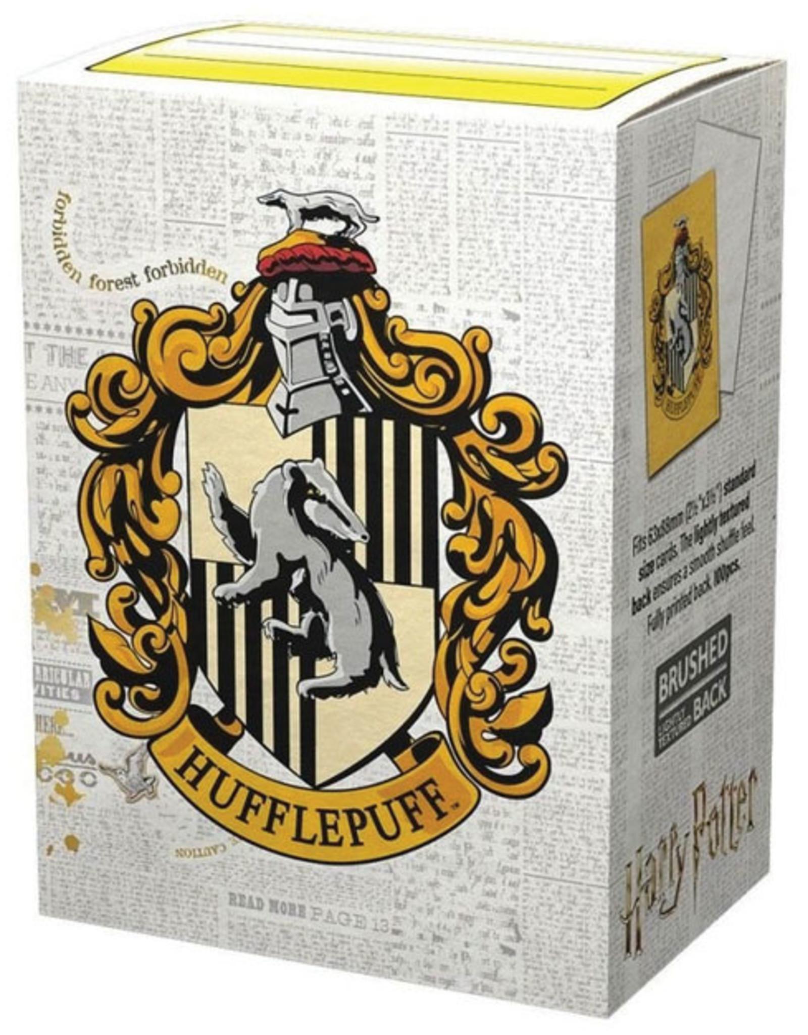 Arcane Tinmen Dragon Shields: (100) Brushed Art - Harry Potter Wizarding World - Hufflepuff