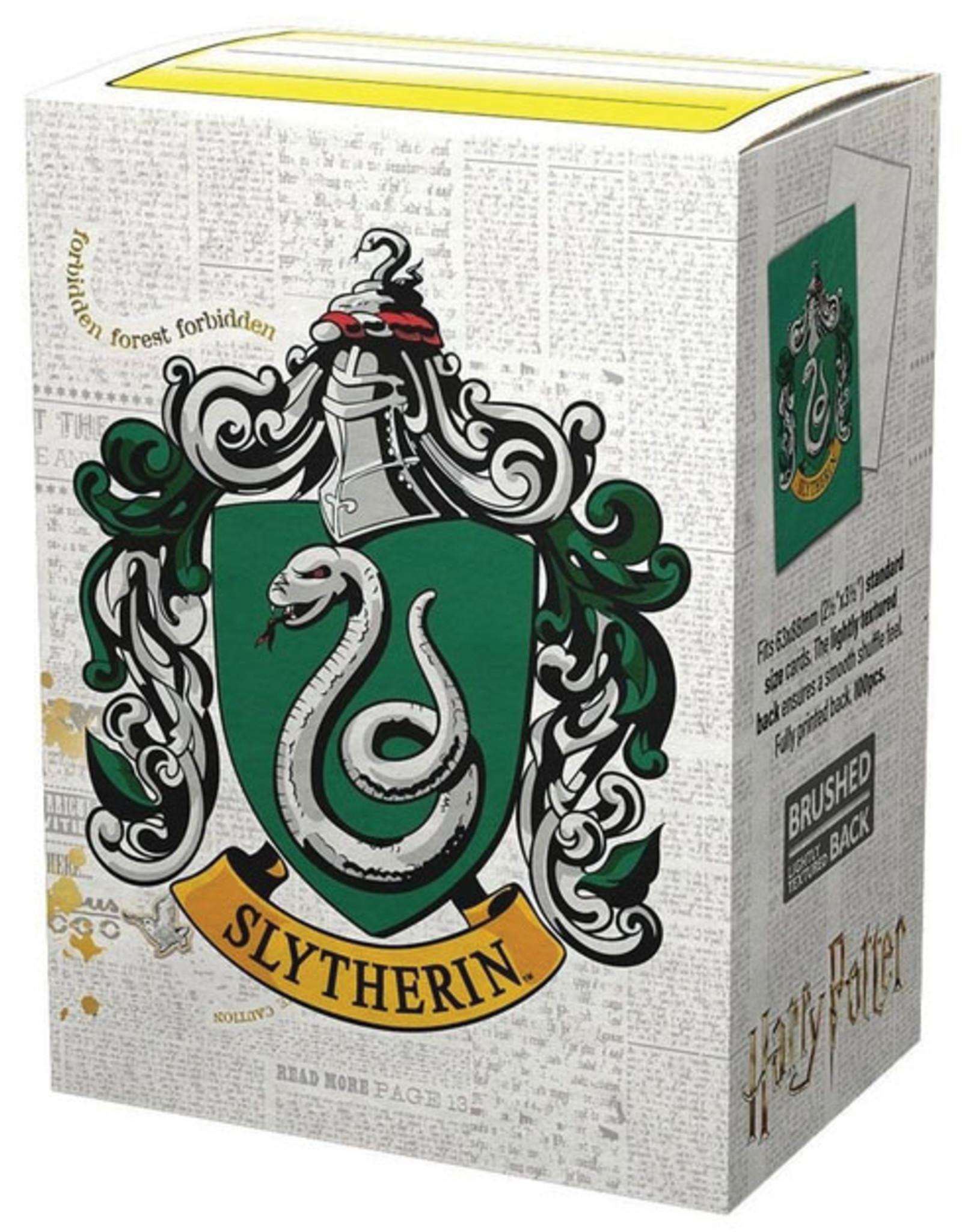 Arcane Tinmen Dragon Shields: (100) Brushed Art - Harry Potter Wizarding World - Slytherin