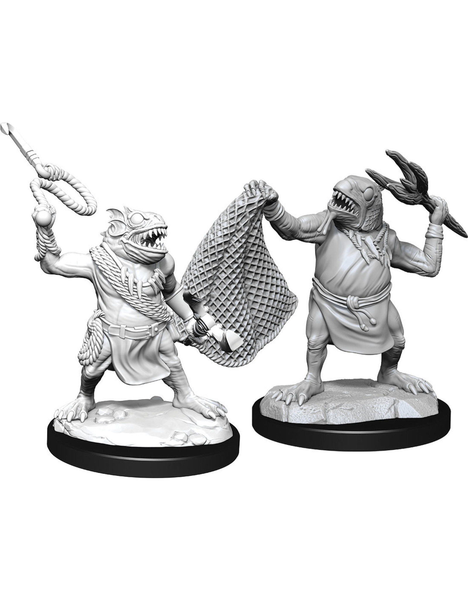 WizKids Dungeons & Dragons Nolzur`s Marvelous Unpainted Miniatures: W14 Kuo-Toa & Kuo-Toa Whip