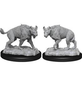 WizKids WizKids Deep Cuts Unpainted Miniatures: W14 Hyenas