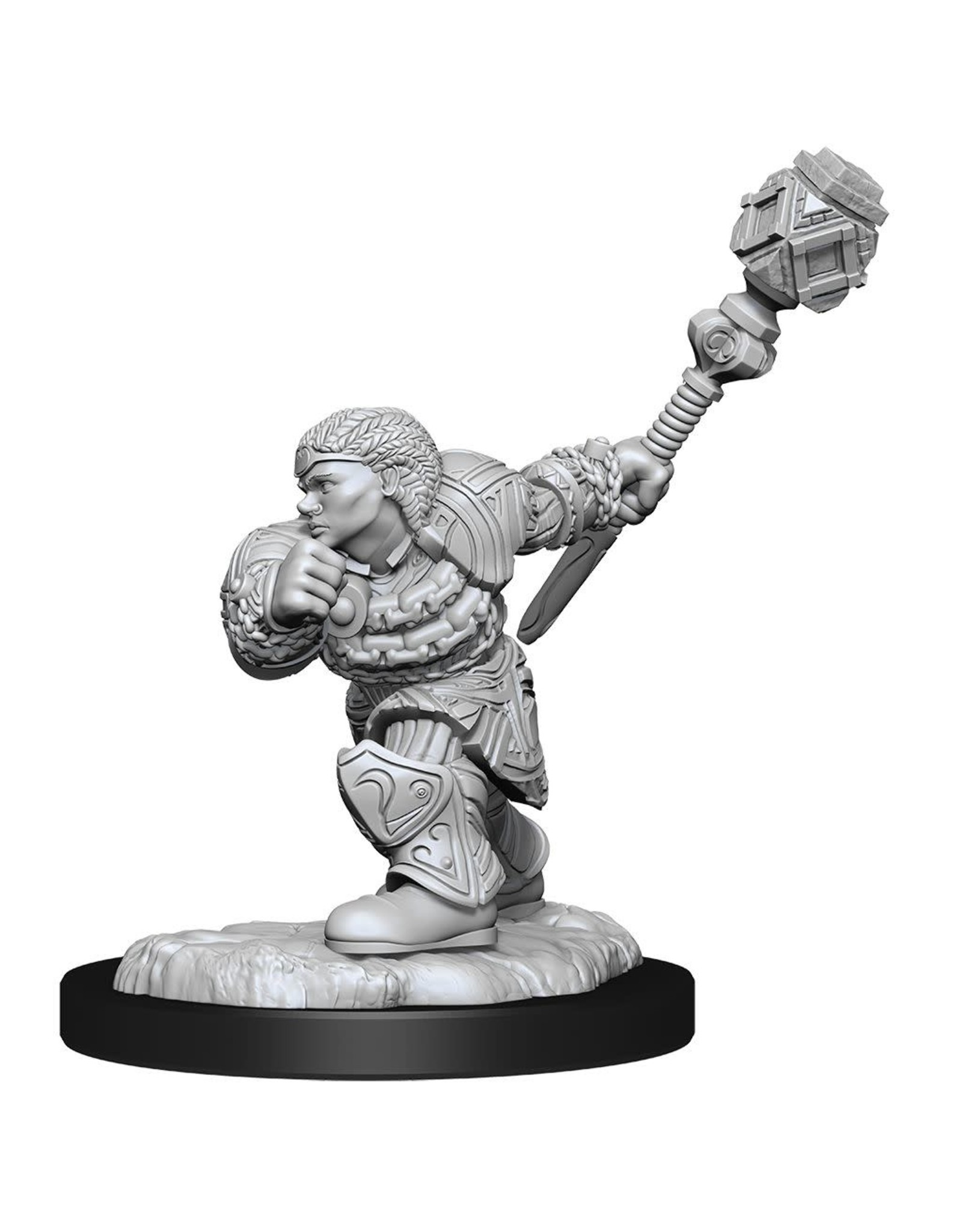 WizKids Magic the Gathering Unpainted Miniatures: W14 Dwarf Fighter & Dwarf Cleric