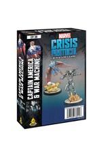 Atomic Mass Games Marvel Crisis Protocol: Cap. America & War Machine Pack