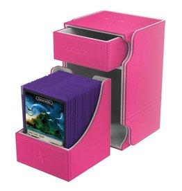 GameGenic Watchtower 100+ Card Convertible Deck Box: Pink