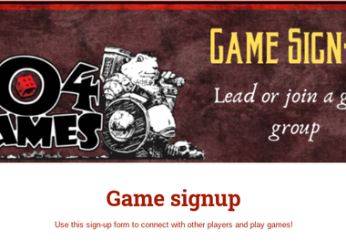 Game Sign-Up