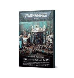 Games Workshop Battlezone: Mechanicum – Terrain Datasheet Cards