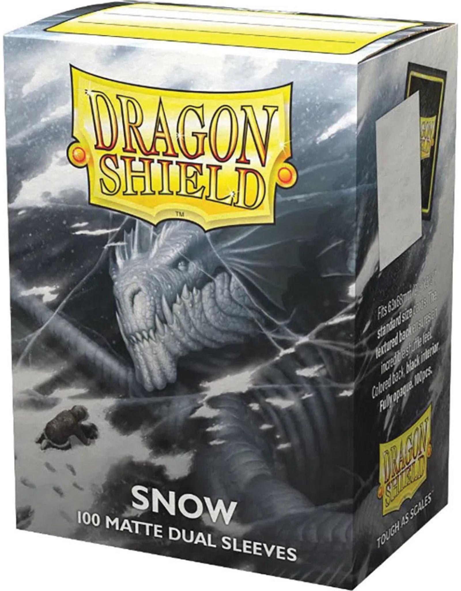 Arcane Tinmen Dragon Shields: (100) Matte Dual - Snow